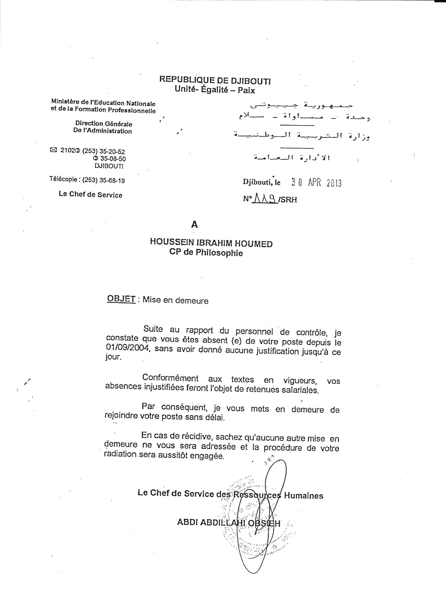Lettre Mise En Demeure Salaire Impaye Document Online